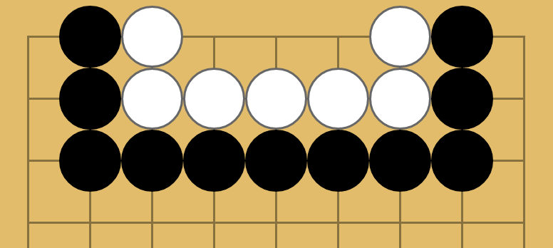 A straight-three region on the side to demonstrate boundary length